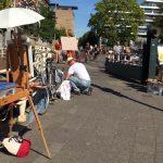 En plein air schilderen in de binnenstad